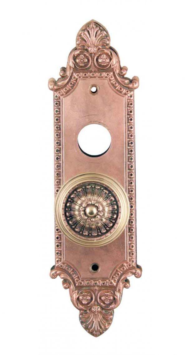 Door Knob Sets - Bronze Neoclassical Door Knob with Ornate Back Plate