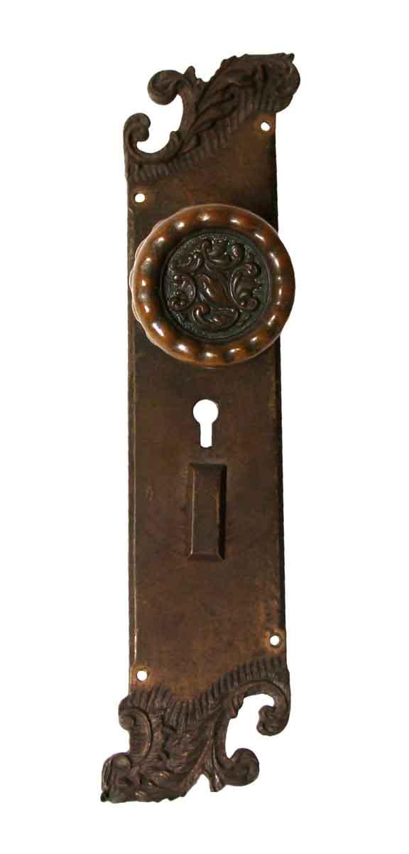 Door Knob Sets - Rococo Asymmetrical Eulalia Bronze Door Knob Entry Set