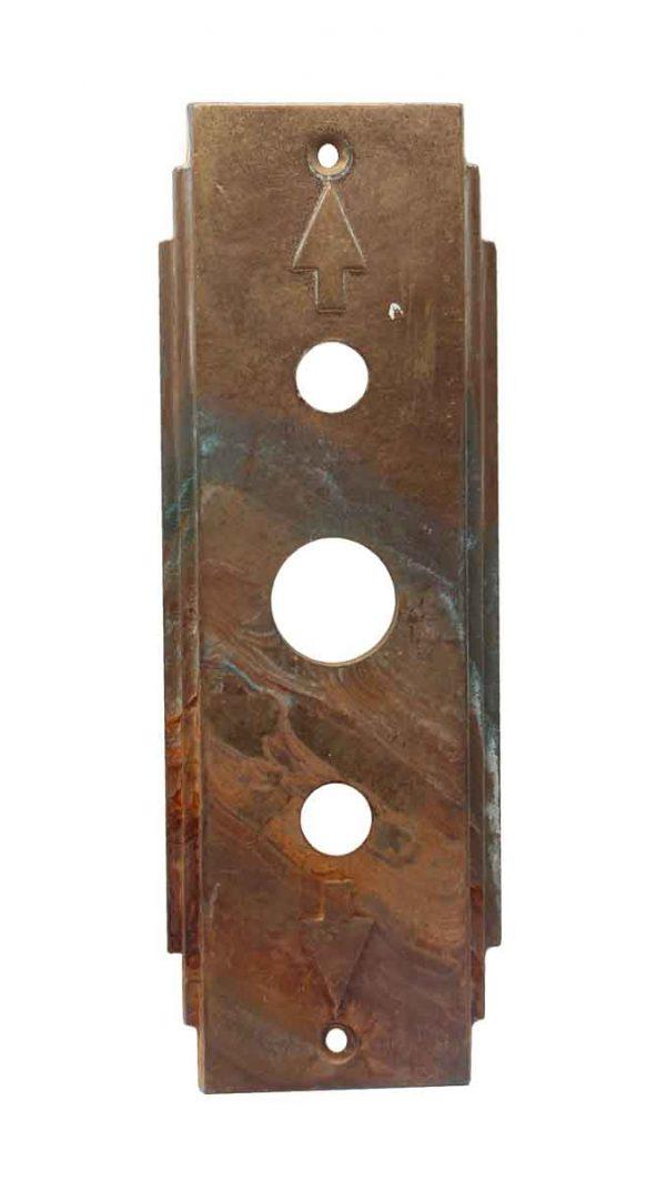 Elevator Hardware - Bronze Deco Elevator Indicator Plate