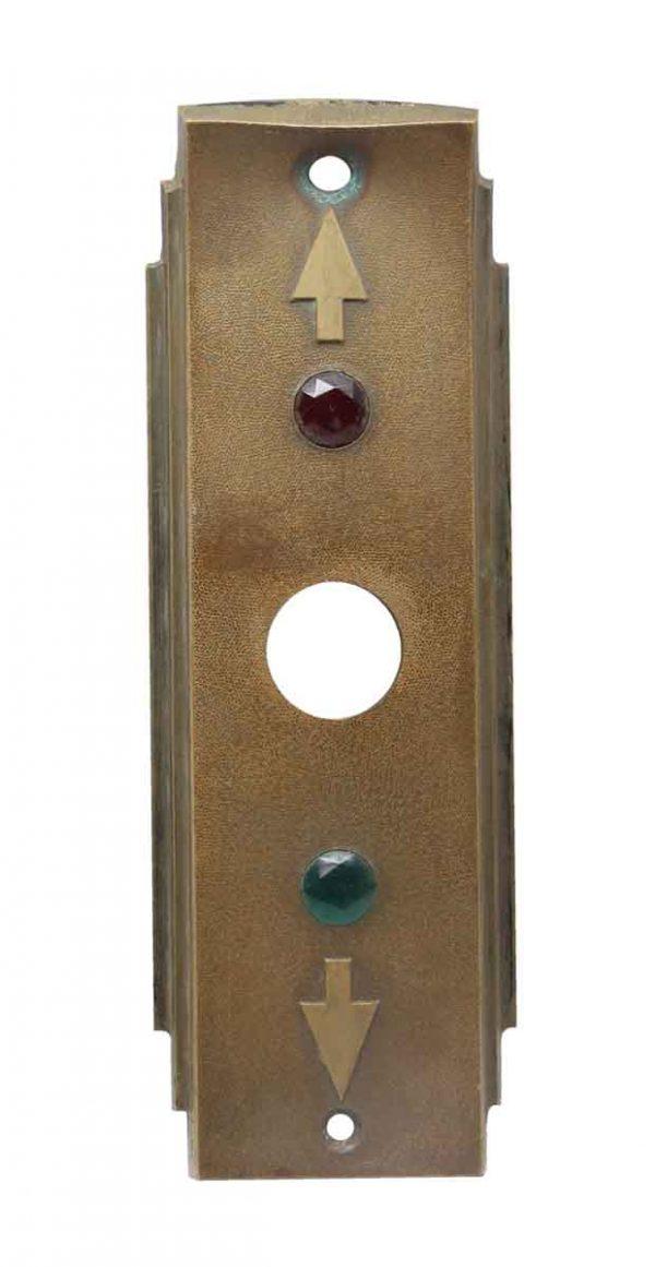 Elevator Hardware - Deco Vintage Bronze Elevator Plate
