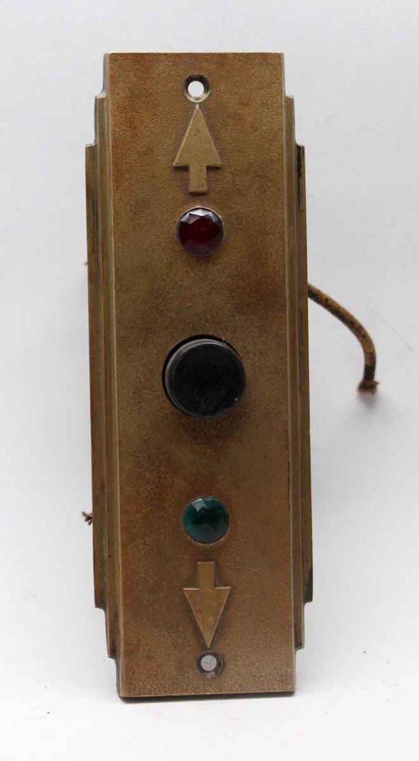 Elevator Hardware - Vintage Deco Bronze Elevator Plate