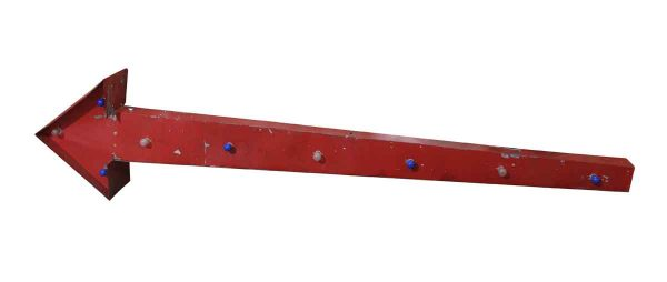 Industrial & Commercial - White & Blue Flashing Red Arrow Light