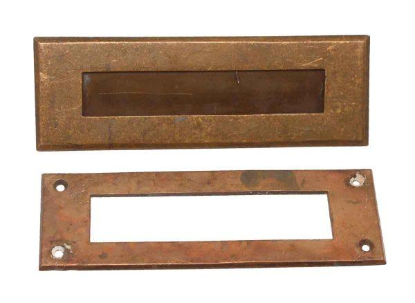 Mail Hardware - Cast Brass Mail Slot Set