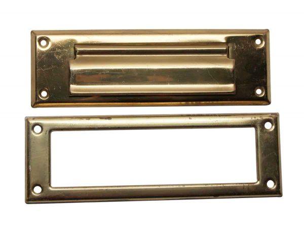 Mail Hardware - Polished Brass Vintage Mail Slot Set