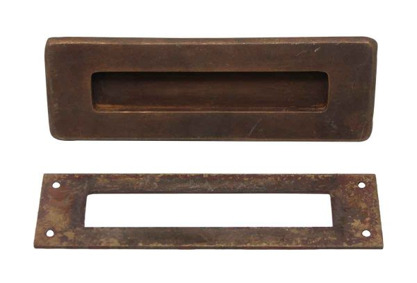 Mail Hardware - Russwin Bronze Mail Slot Set