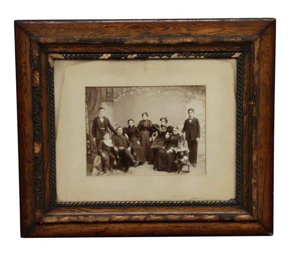 Photographs - Antique Oak Framed Family Photo