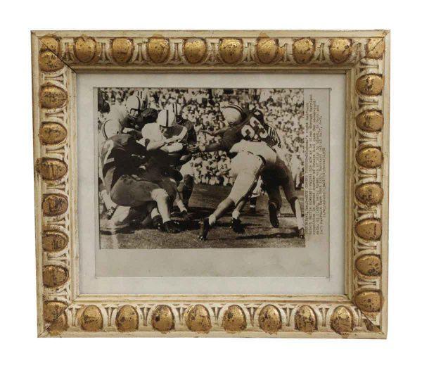 Photographs - Egg & Dart Framed Orange Bowl Football Photo