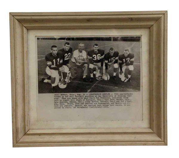 Photographs - Vintage Framed University of Oklahoma Football Photo