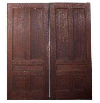 Pair Of Gray Brown Wooden Pocket Doors