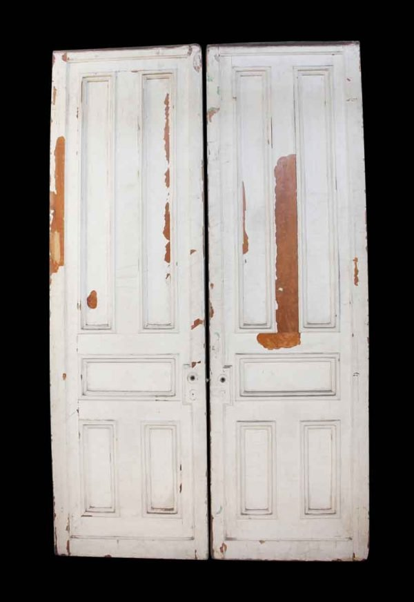 Pocket Doors - Pair of Wooden Painted Extra Tall Pocket Doors
