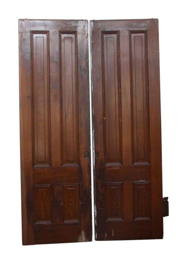Pocket Doors - Pair of Wooden Vertical Panel Pocket Doors