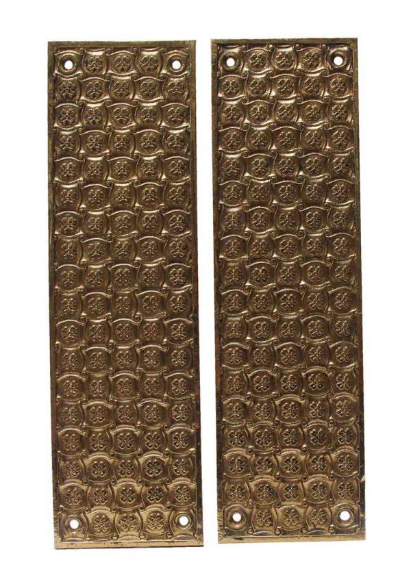 Push Plates - Yale & Towne Madras Cast Brass Pair of Push Plates