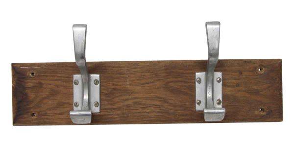 Racks - European Two Aluminum Hooks on Wood Plank