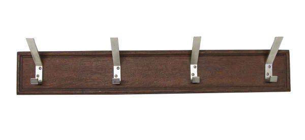 Racks - Imported 4 Aluminum Hooks on Wood Plank