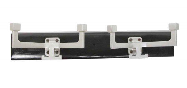 Racks - Imported Double Aluminum Hooks on Black Wood Plank