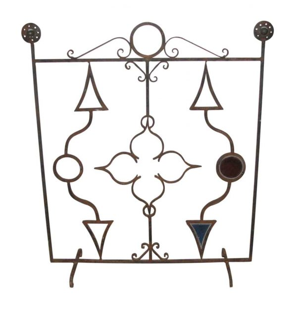Screens & Covers - Wrought Iron Fireplace Screen with Unusual Design