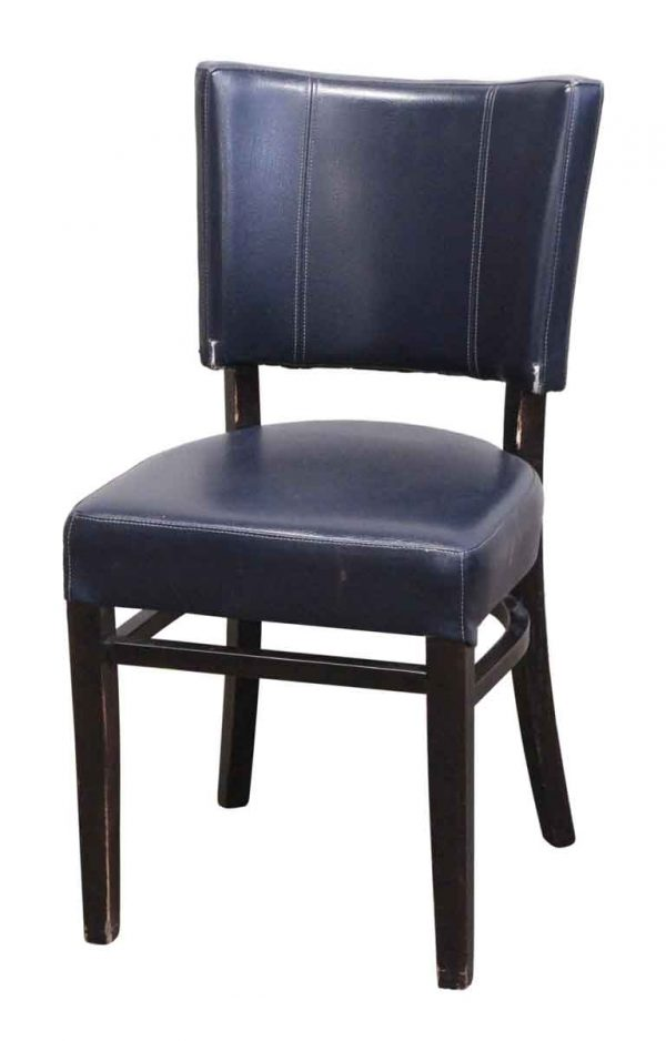 Seating - Faux Leather Blue Chair