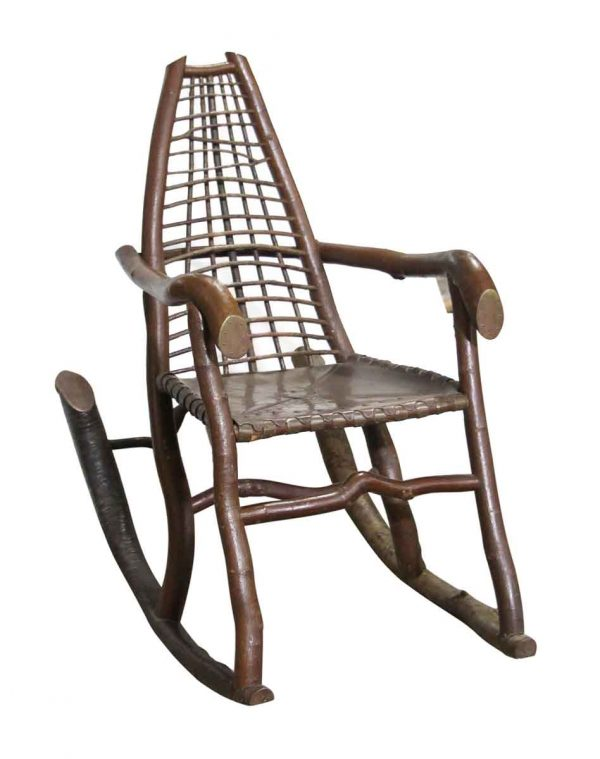 Seating - Handmade Birch & Copper Adirondack Rocking Chair