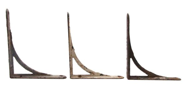 Shelf & Sign Brackets - Set of Three Vintage Cast Iron Shelf Brackets