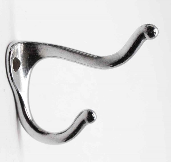 Single Hooks - Chrome Over Brass Steel Hook