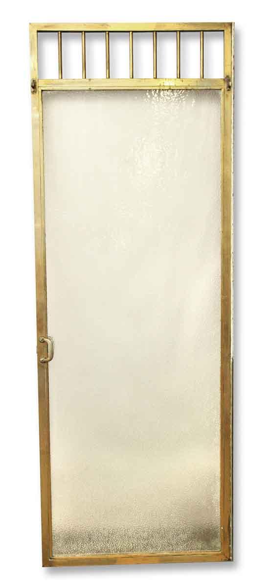 Specialty Doors - Brass Textured Shower Glass Door