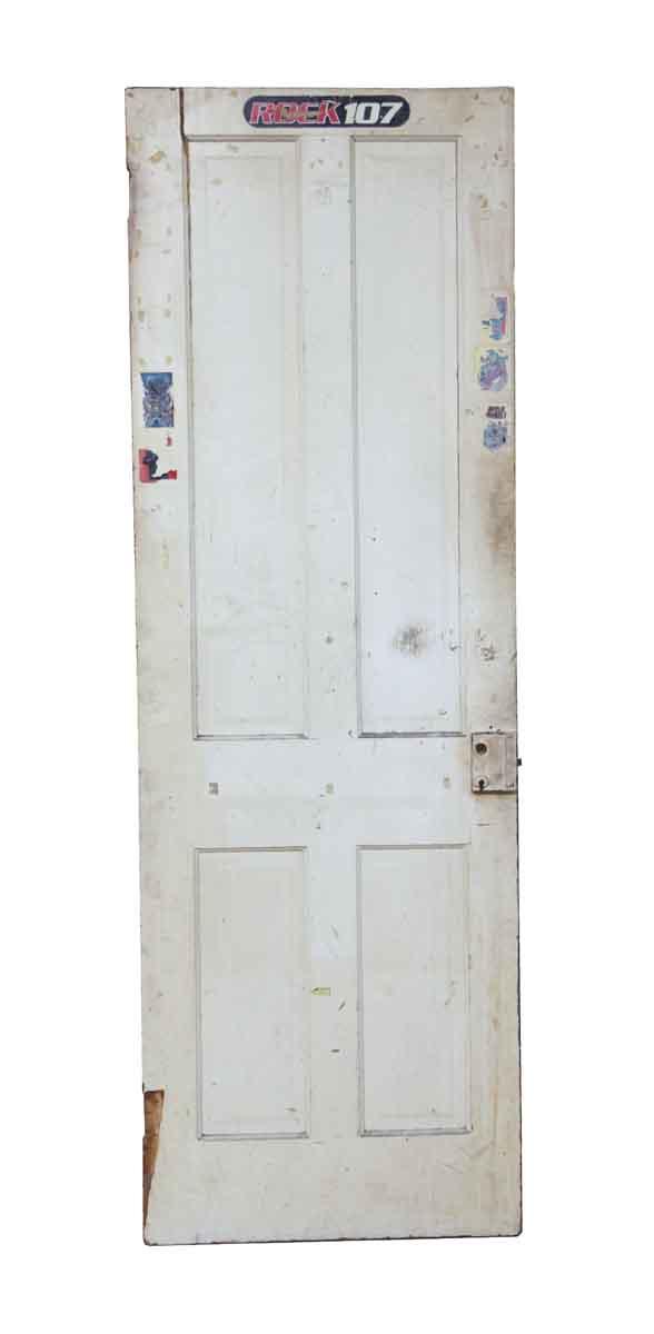 Standard Doors - White & Brown Painted Wooden Door