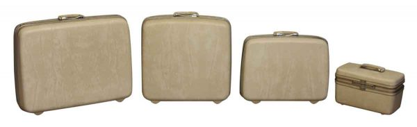 Suitcases - Set of Four Vintage Silhouette Samsonite Luggage Cases