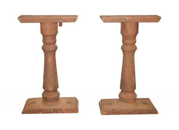 Table Bases - Pair of Cast Iron Bench Legs