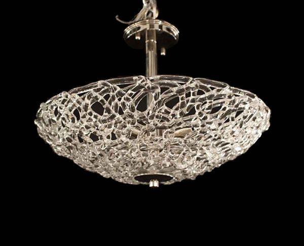 Up Lights - Lattice Blown Glass Pendant Light