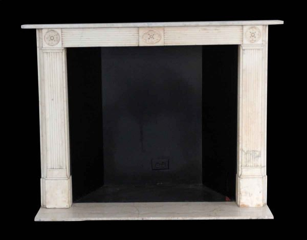 Waldorf Astoria - Waldorf Astoria 1810 Carved Statuary White Marble Mantel