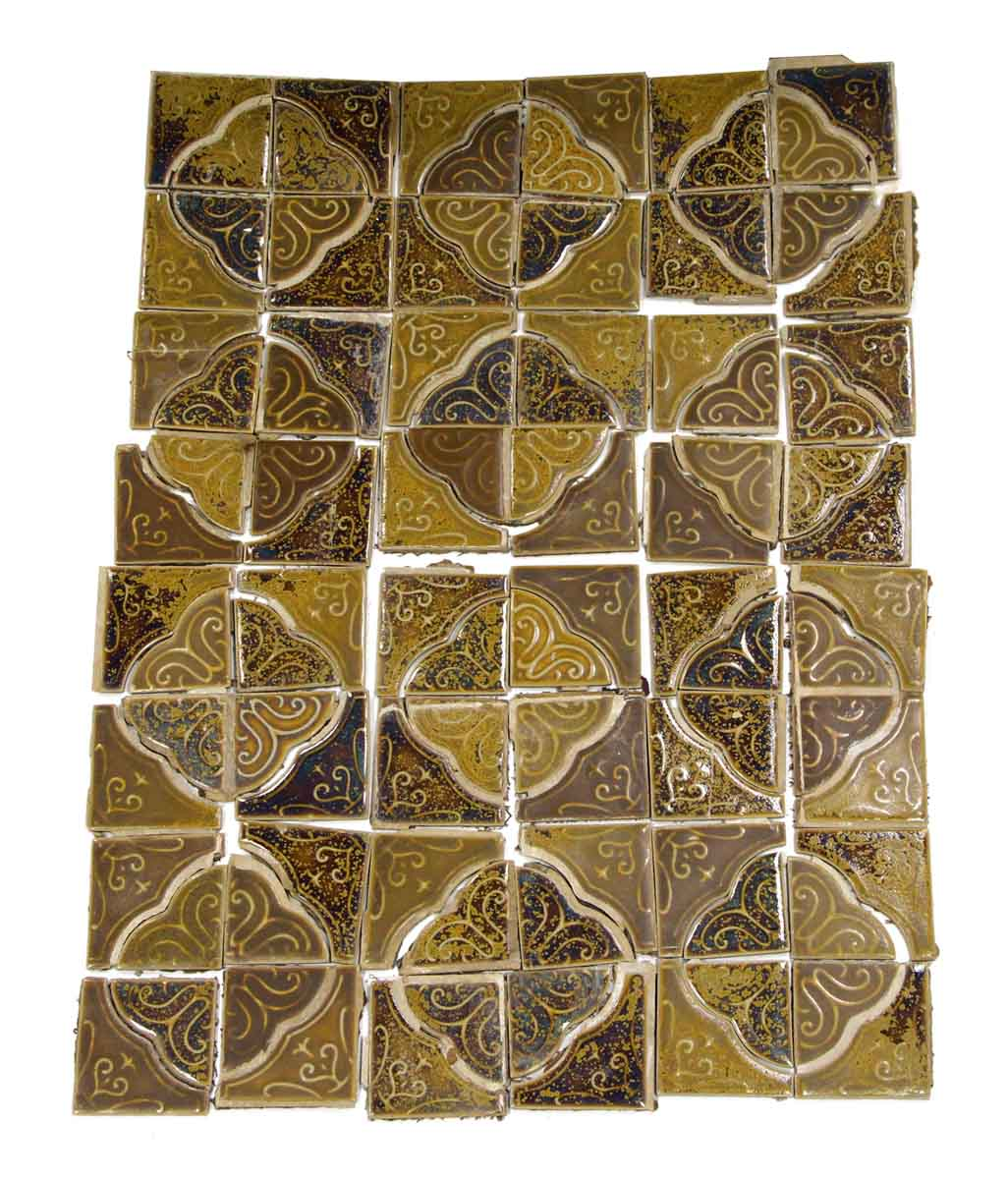 Salvaged Tan Amp Brown Spanish Style Tile Set Olde Good Things