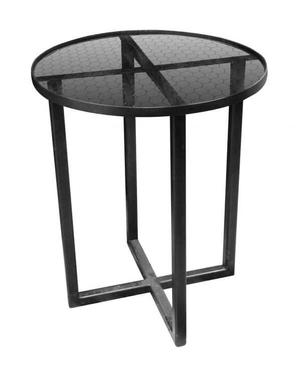 Altered Antiques - New Steel & Chicken Wire Glass Side Table
