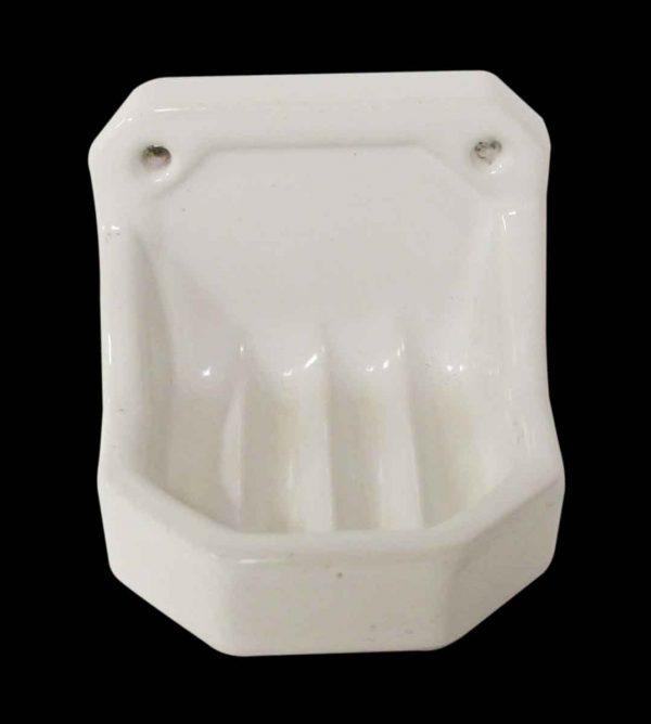 Bathroom - Ceramic White Soap Dish