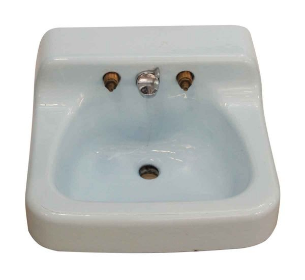 Bathroom - Pale Blue Vintage Standard Sink