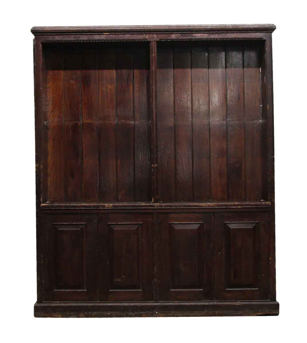 Antique Extra Large Wooden Bookcase | Olde Good Things