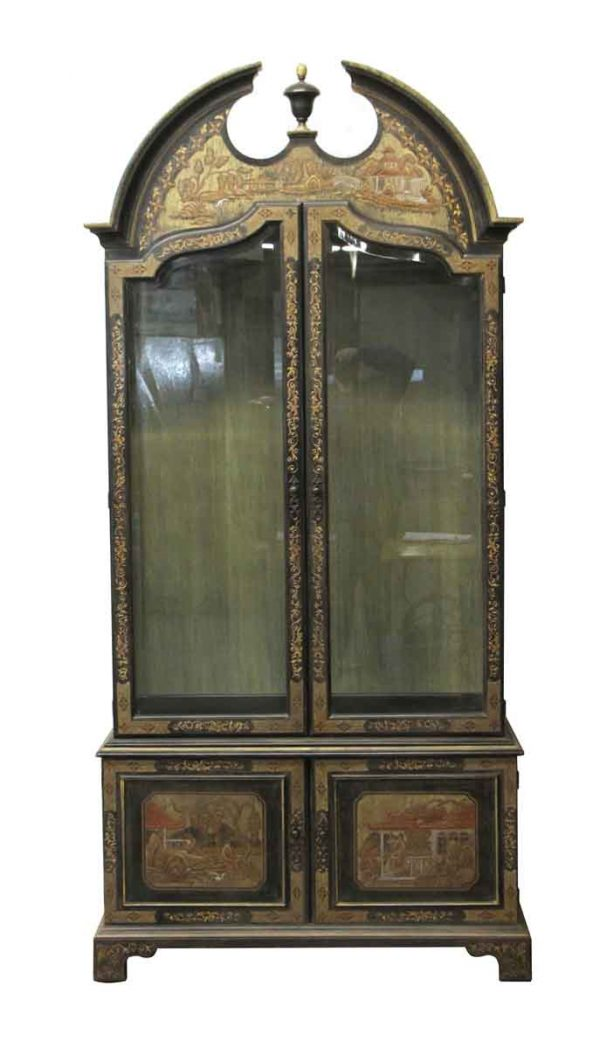 Cabinets - Heavily Detailed Oriental Style Wooden Cabinet