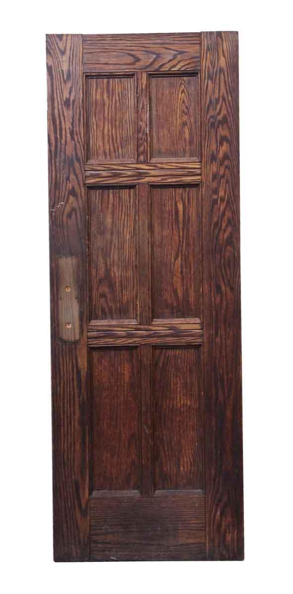 Commercial Doors - Six Panel Vintage Oak Wood Door