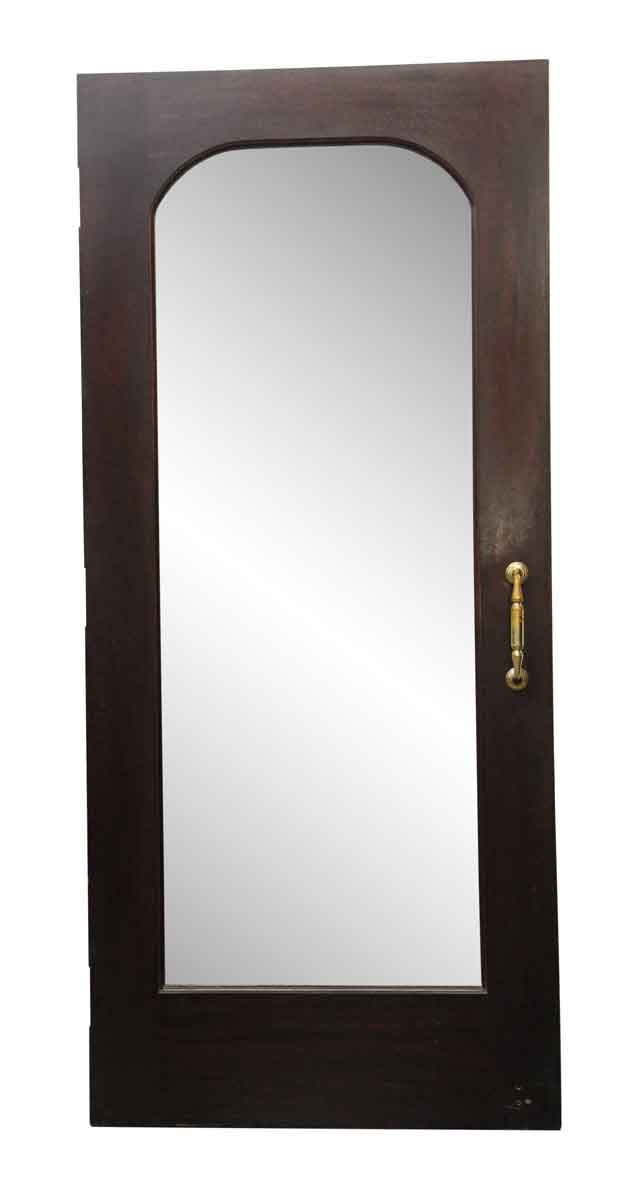 wooden door with an arched beveled glass center olde good things. Black Bedroom Furniture Sets. Home Design Ideas