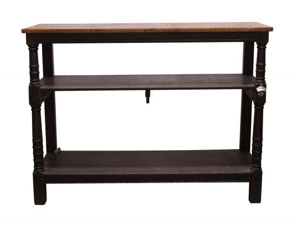 Commercial Furniture - 2 Tier Wooden Commercial Console Table