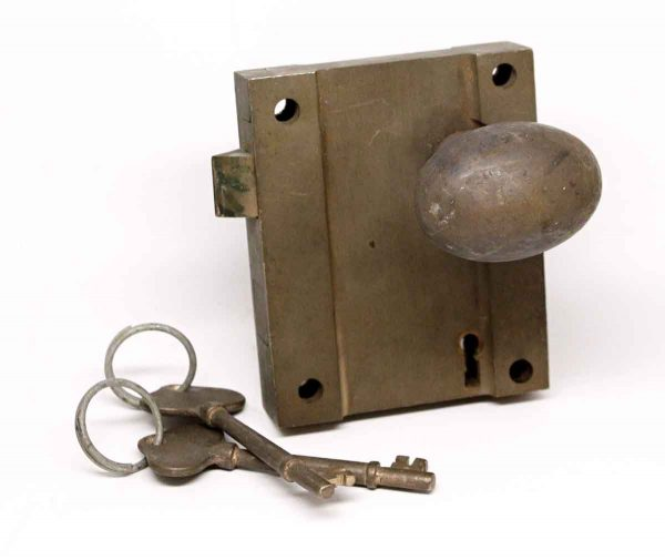 Door Knob Sets - Antique Surface Bronze Oval Door Knob Set