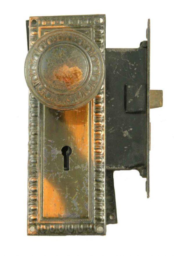 Door Knob Sets - Mortise Door Lock Set with Brass Door Knobs & Back Plates