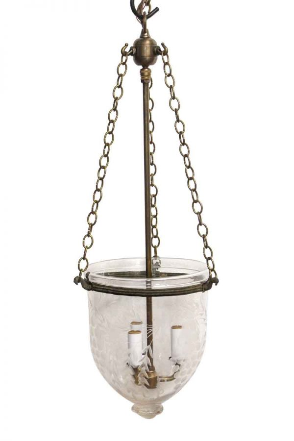 Down Lights - Etched Crystal Vintage Bell Jar Light