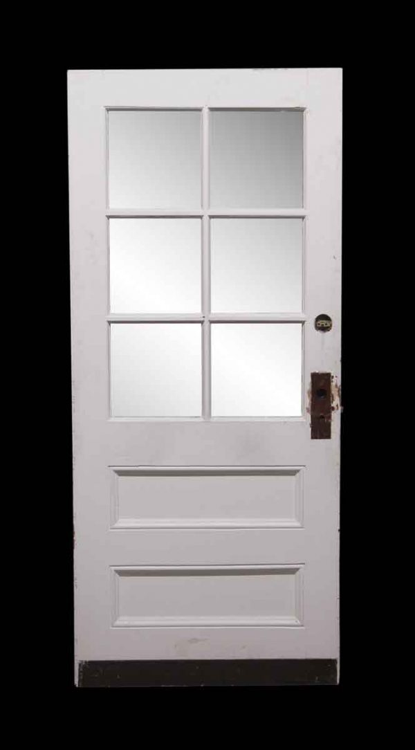 Entry Doors - 6 Glass Pane Wooden Door