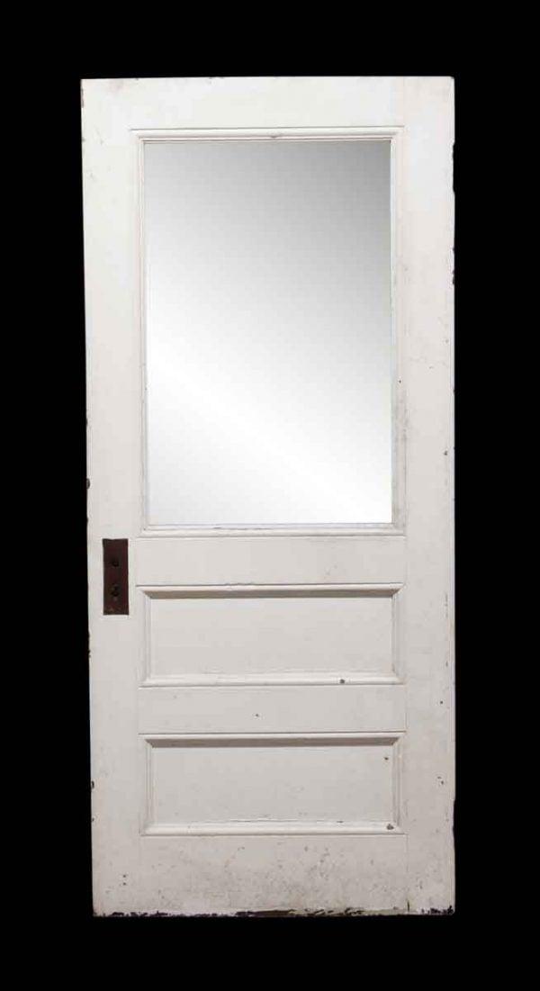 Entry Doors - Frosted Glass Panel Wooden Door