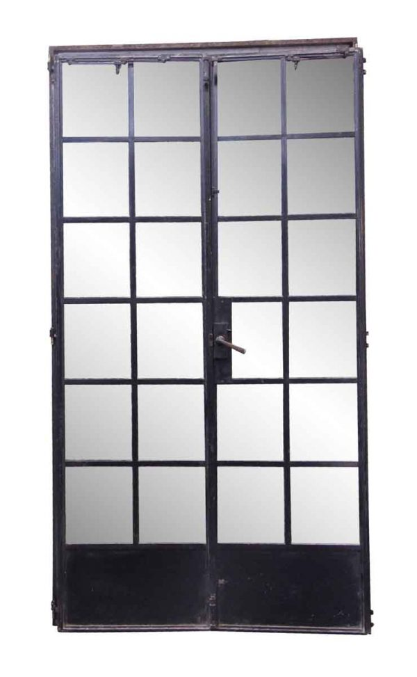 Entry Doors - Steel Black 12 Glass Pane Doors with Frame