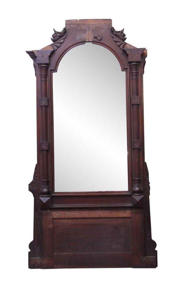 Entry Way - Antique Tall Mahogany Hall Mirror