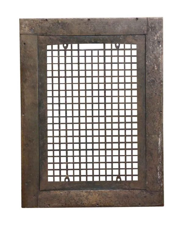 Exterior Materials - Salvaged Bronze Grate