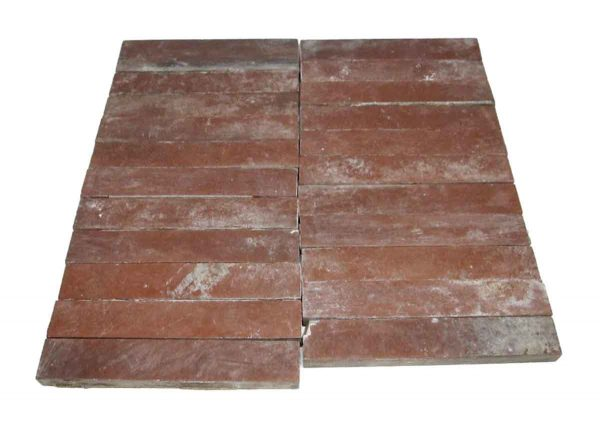 Floor Tiles - Stone Red Matte Hearth Tile Set