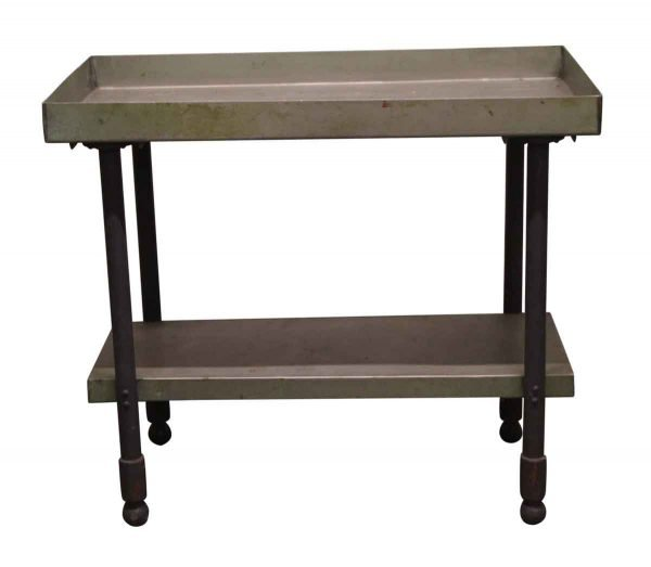 Kitchen - Reclaimed Green Industrial Table