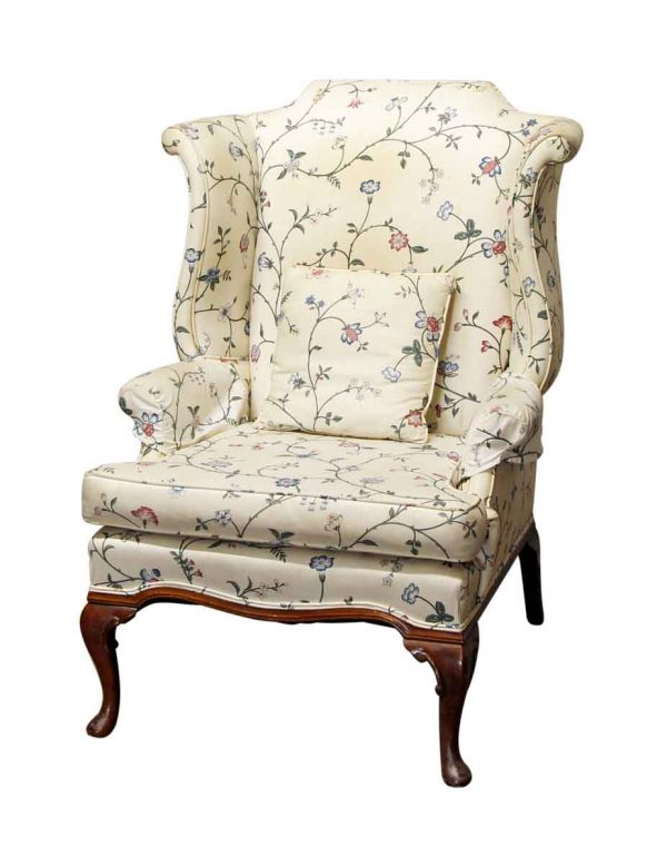 Living Room - Floral Patterned Chair with Matching Pillow